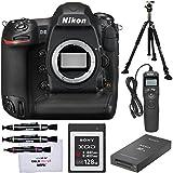 Nikon D5 Digital SLR Camera Body (Dual XQD Slots) 128GB Card & Reader + Vanguard Tripod + Remote + Kit