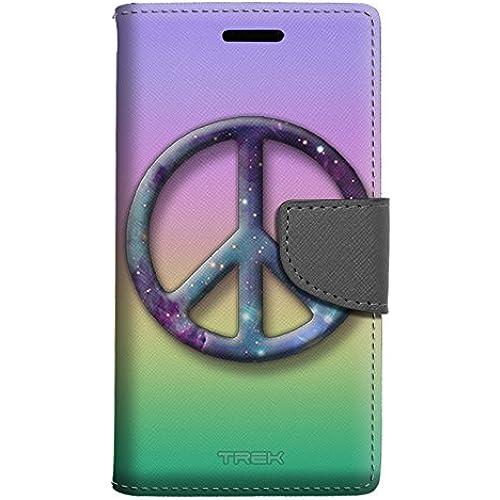 Samsung Galaxy S7 Edge Wallet Case - Peace on Rainbow Pastel Colors Case Sales