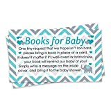 Baby : Teal Blue and Gray Elephant Boy Baby Shower Books for Baby Request Cards (Set of 20)