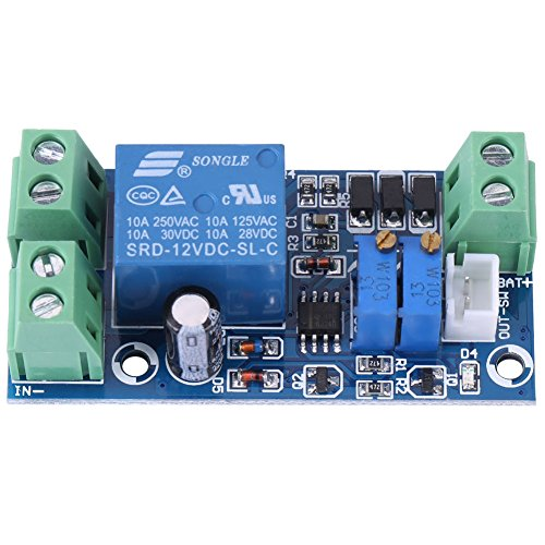 Charging Protection Board Storage Battery Protection Board, Undervoltage Automatically Turn On/Off Charging Controller Module for Lead Acid Lithium Solar Panel Battery