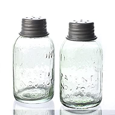 Set of Mason Jar Style Shakers for Use with Salt, Pepper, and Other Spices