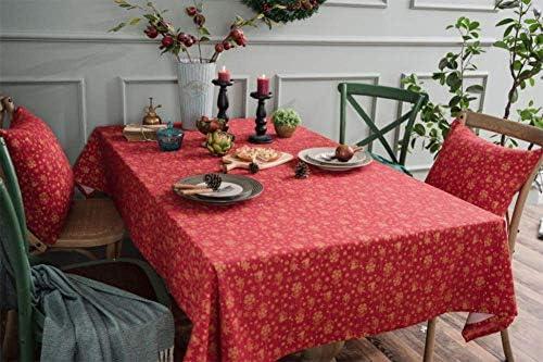 ERQI Mantel de Navidad,Mantel Estampado de algodón y Lino,Mantel Dorado Dorado navideño,Se Puede Utilizar para decoración navideña/decoración de mesas Interiores y Exteriores,B,140 * 300CM: Amazon.es: Hogar