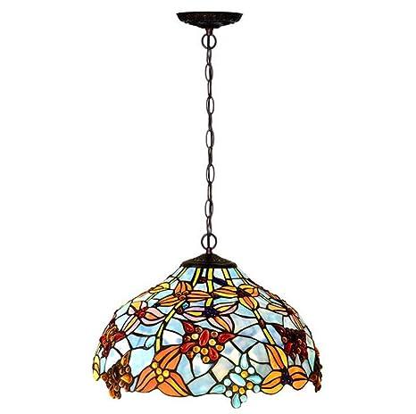 Lámpara colgante estilo Tiffany de 16 pulgadas ...