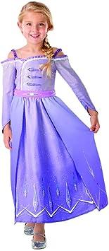 Oferta amazon: Rubies - Disfraz oficial de Disney Frozen 2, Elsa Deluxe Prólogo para niños, talla grande de 7 a 8 años