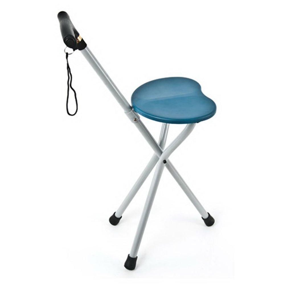 【今日の超目玉】 Ledライト 折り畳み式 3脚杖, 三脚 折りたたみ B07LF6C3ST 3脚杖, アルミニウム合金 歩行補助杖 松葉杖 歩行補助杖 スツール椅子-青 B07LF6C3ST, ワイシャツのプラトウ:cab78aca --- a0267596.xsph.ru