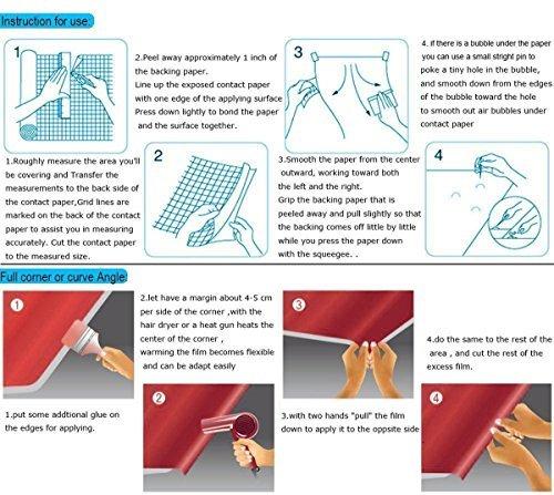 Autocollant brillant Marbre Granit Aspect Contact papier film vinyle Peel-stik de comptoir de cuisine DIY de salle de bain papier peint 24/par 297,2/cm