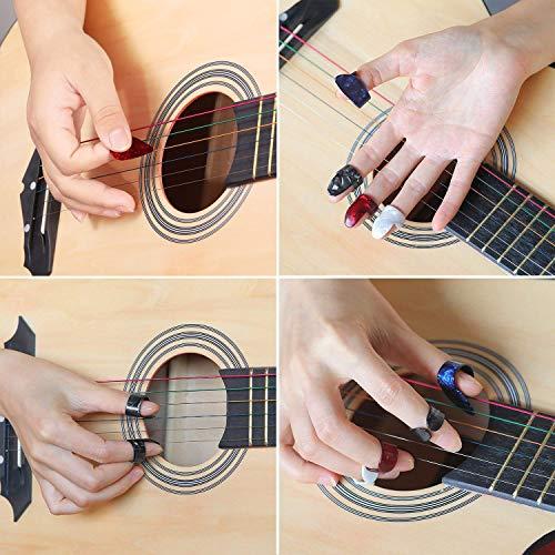 Benvo Guitar Accessories Kit All-in 1 Guitar Tool Changing Kit Including Guitar Picks, Capo, Acoustic Guitar Strings, String Winder, Bridge Pins, Pin Puller, Guitar Bones & Pick Holder, Finger Picks by Benvo (Image #3)