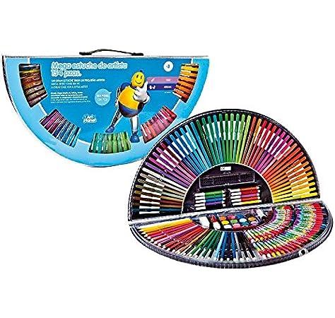 Estuche Arcoiris. Maletín para Colorear Que Incluye 154 Piezas para Colorear y Dibujar con Todo Tipo de Materiales: Pinturas, Ceras, rotuladores y más: Amazon.es: Juguetes y juegos