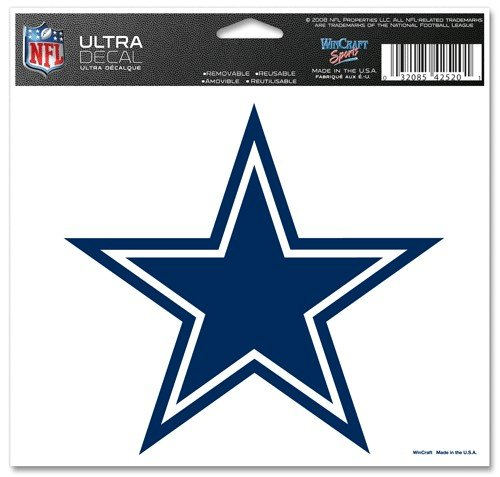 WinCraft NFL Dallas Cowboys 42520071 Multi-Use Colored Decal, 5