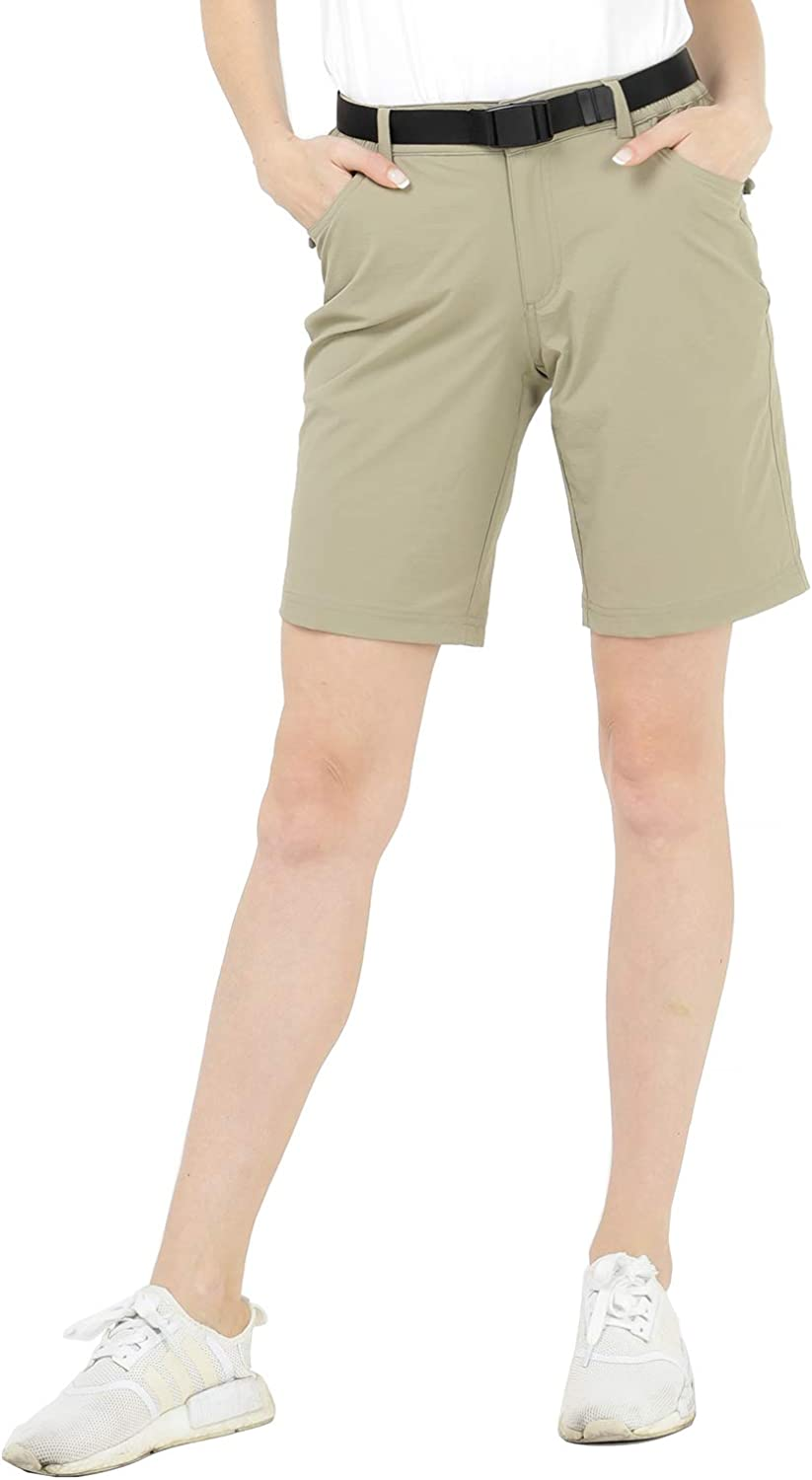 MIER Womens Quick Dry Hiking Shorts Stretchy Shorts,Water Resistant and Lightweight Exclude Belt