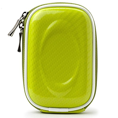 (VG Slim Travel Edition Semi Hard Case (Candy Green EVA) for Sony Cyber-Shot Point & Shoot Compact Digital Cameras)