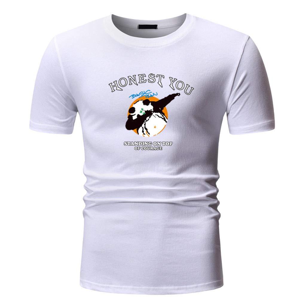 SFE Men Summer Shirts,Mens World Printing T Shirt Leaf Short Sleeve Tops Casual Open Shirts Fashuion!