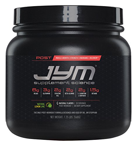JYM Supplement Science, POST JYM Active Matrix, Post-Workout with BCAA's, Glutamine, Creatine HCL, Beta-Alanine, L-Carnitine L-Tartrate, Betaine, Taurine, and more, Natural Lemon Lime, 30 - Supplement Glycogen
