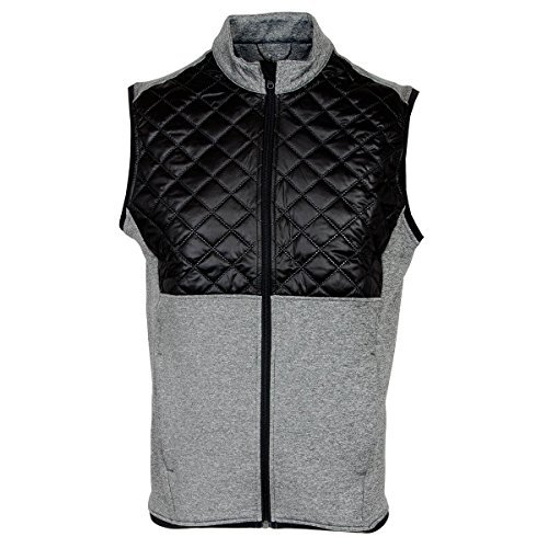 Adidas Golf 2016 Climaheat Prime Fill Gilet Insulated Quilted Mens Golf Thermal Vest Dark Grey Heather/Black XL -  AF2722