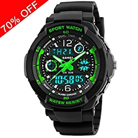 Viliysun Kid Watch Multi Function Digital LED Sport 50M Waterproof Electronic Analog Quartz Watches for Boy Girl Children Gift