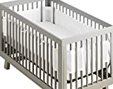BreathableBaby   Deluxe Breathable Mesh Crib Liner   Doctor Endorsed   Helps Prevent Arms and Legs from Getting Stuck Between Crib Slats   Independently Tested for Safety   White Ruffle