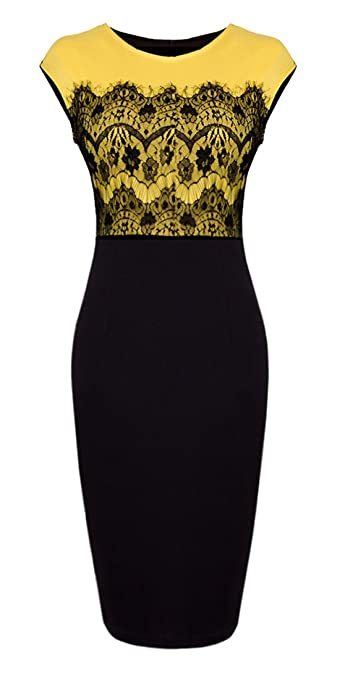 Women's Floral Lace Cocktail Party Sheath Dress