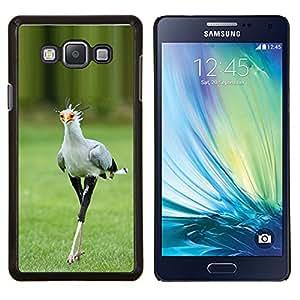 YiPhone /// Prima de resorte delgada de la cubierta del caso de Shell Armor - pájaro naturaleza correcaminos verde primavera - Samsung Galaxy A7 A7000