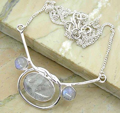 Genuine Moonstone 925 Silver O