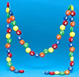 Kurt Adler 6' M&M Chocolate Candies Novelty Christmas Garland