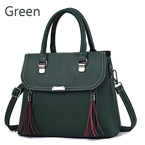 Pu Flower New Solid Handbag Green New Ladies Leather Embroidered Embroidered xqvwOSS
