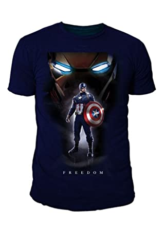 Captain america - Camiseta - Básico - Cuello Redondo - Hombre: Amazon.es: Ropa y accesorios