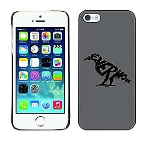 Be Good Phone Accessory // Dura Cáscara cubierta Protectora Caso Carcasa Funda de Protección para Apple Iphone 5 / 5S // NEVERMORE Raven