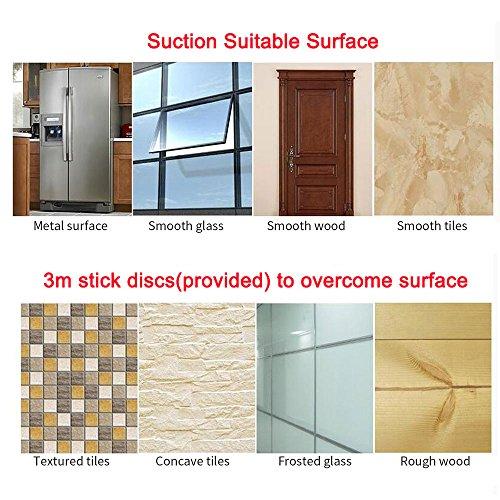 BOPai 24 inch Vacuum Suction Cup Towel Bar,Removeable Shower Mat Rod Shower Door Adhesive Towel Bar Suction Towel Rack,Premium Chrome by BOPai (Image #6)