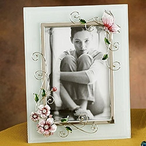StealStreet SS-A-63464 Butterfly Design Photograph Picture Frame, Pink