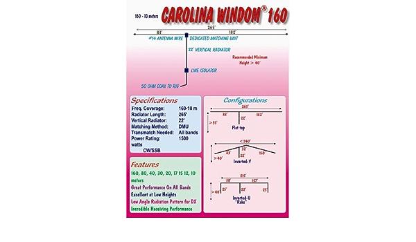 Radio funciona cw-160 Carolina Windom 160: Amazon.es: Electrónica