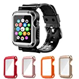 Apple Watch Case Series 1 Series 2, iitee 5-in-1 Universal Full Armor Case and Band Strap with Screen Protector for Apple Watch 38mm Reviews