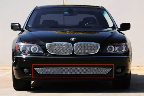 TRex Grilles 45998 Small Mesh Stainless Chrome Finish Replacement Sport Bumper Grille for BMW 750 ()