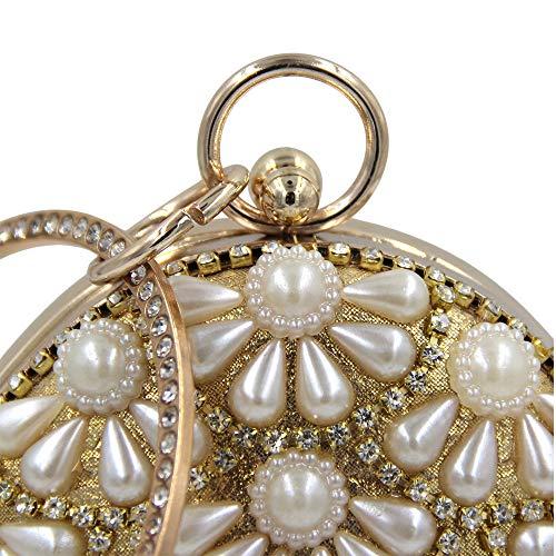 Diamond Gold Sera Diamante Bag Nappa Tipo gold Di Acqua Pack Sacchetto Goccia Perla Ffllas Cena 4qSzfPq