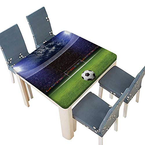 - PINAFORE Decorative Tablecloth Ball Stadium Arena in Night Illuminated Bright Spotlights Cheering Table Cover for Dining Room and Party 53 x 53 INCH (Elastic Edge)