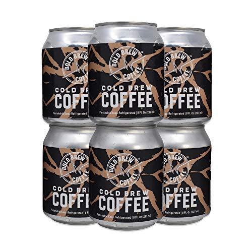 Cold Brew Coffee, Original Black - Bold Brew Coffee, Single-Origin Colombian Coffee | Natural Energy | Sugar, Gluten & Dairy Free, 0 Calories, 180 MG Caffeine | 8oz Can - (6 Pack)