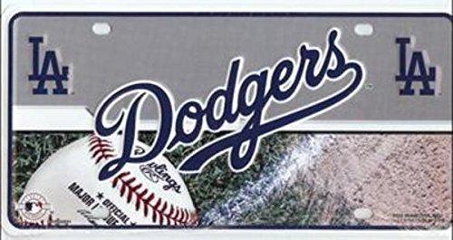 MLB Los Angeles Dodgers Metal Auto Tag