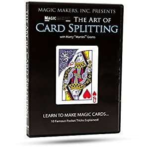 Magic Makers The Art of Card Splitting Instructional Card Magic Trick DVD Guide with Magician Marty Grams by Card Effects Explained, Creating Gaff & Gimmick Cards