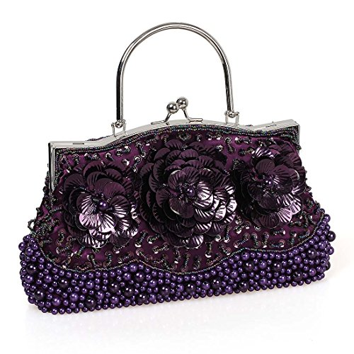 Womens Elegant Flower Encrusted Evening product image