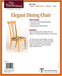 Fine Woodworking S Elegant Dining Chair Plan Editors Of Fine