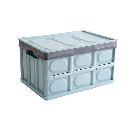 design de qualité d5e7b fe498 Somine Caisse pliable avec couvercle - 52 Litres boîte de rangement en  plastique multifonctionnel - Boîte de panier empilable de stockage pour le  ...