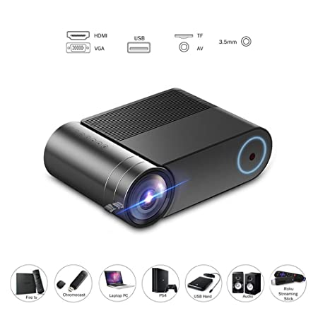 CHAOZHAOHENG Mini proyector, Video HD 3800 Lux 50,000 Horas, Cine ...