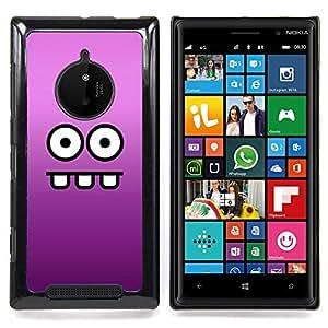 Eyes Face Cartoon Funny Purple Caja protectora de pl??stico duro Dise?¡Àado King Case For Nokia Lumia 830