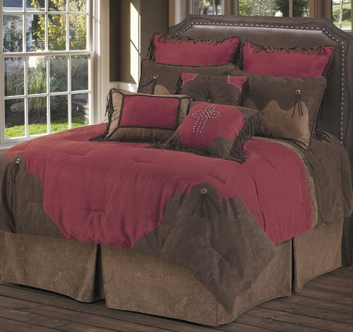 HiEnd Accents Red Rodeo Western Bedding, Super King