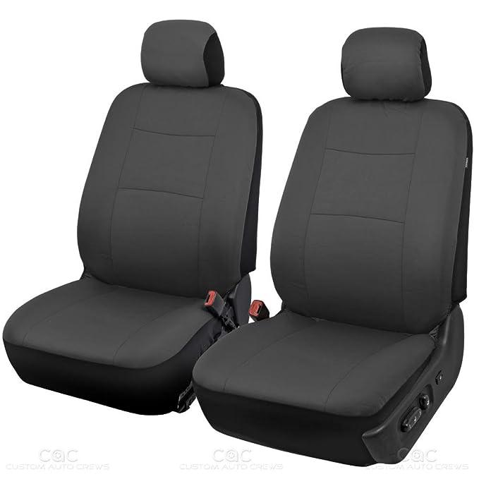 Amazon Com Bdk Charcoal Black Car Seat Covers Full 9pc Set Sleek