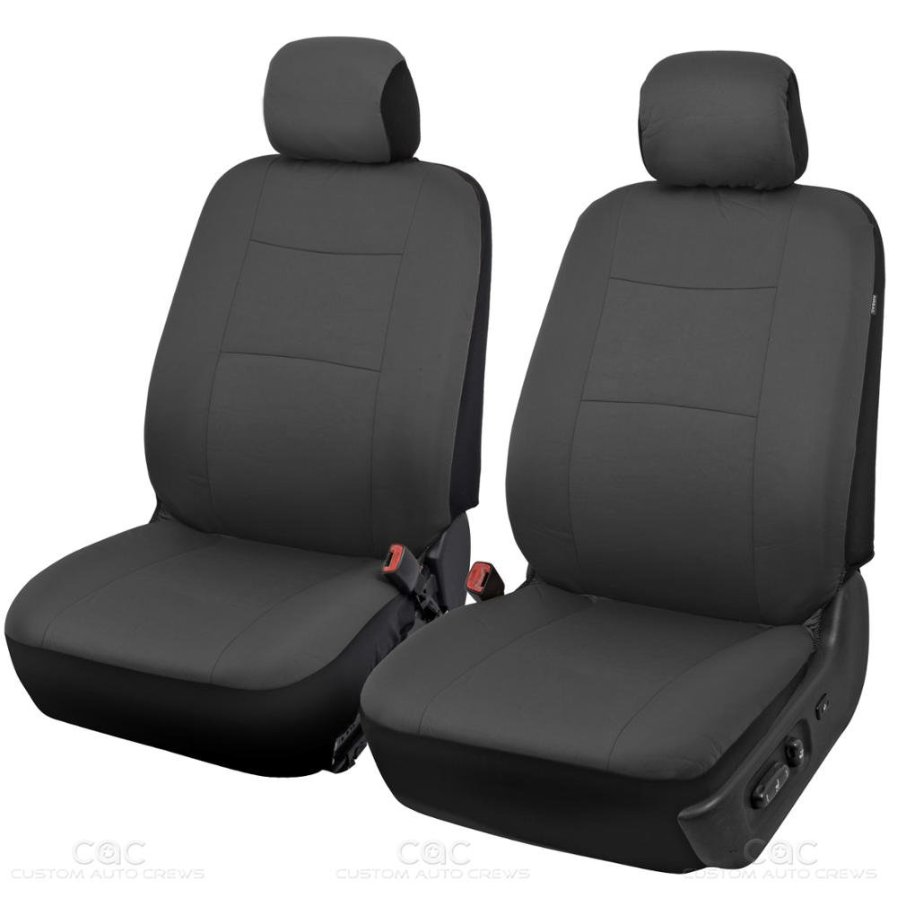 bdk charcoal black car seat covers full 9pc set sleek stylish split option bench 5. Black Bedroom Furniture Sets. Home Design Ideas