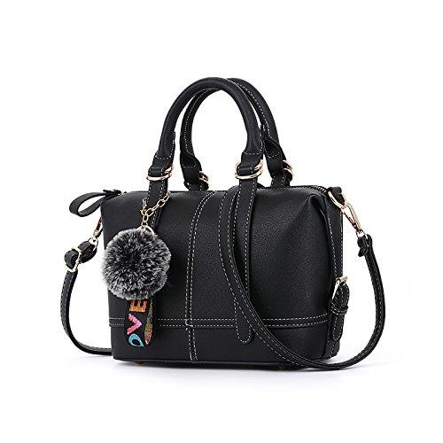 Tisdaini Dama bolso de mano moda casual bolso bandolera bolsas de marca Negro