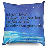 Are There Beds Bigger Than King Size 60JimNic Throw Pillow Case 16 x 16,Let Your Dreams Be Bigger Than Your Fears Throw Pillow Cover Decorative for Home Sofa Bedding