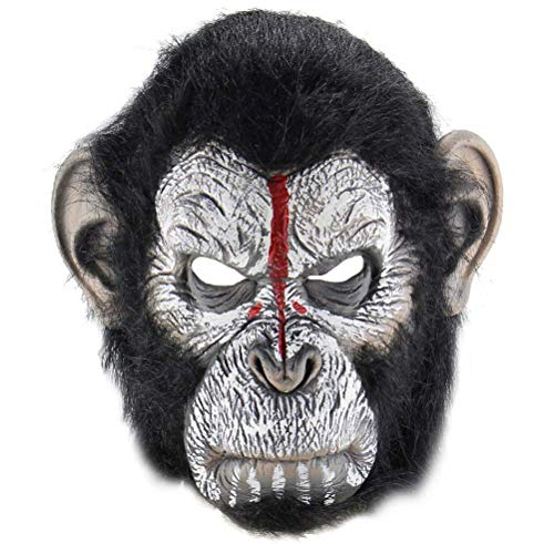 Polymer Halloween Scary Mask Man Ape Mask Halloween Costume Party Props Latex Masks Cosplay Mask Head -