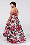 Davids Bridal Strapless Plus Size Ball Gown Lace-up Back Style A20912W