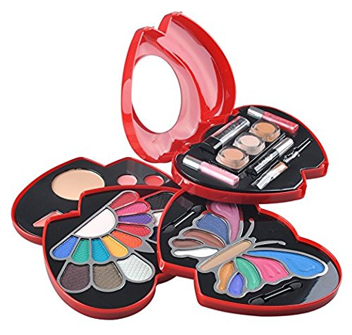 Red Double Heart Glamour Girl Makeup Color Kit by Cameo -